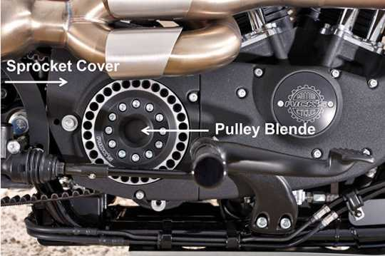 Ricks Motorcycles Rick's Pulley Cover 30 Zähne, drilled  - 60-7985