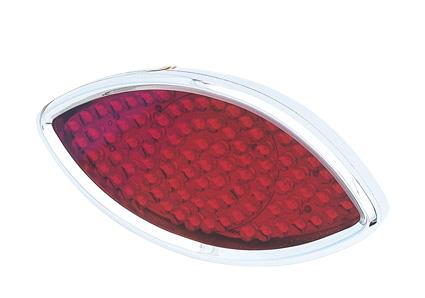 Radiantz Radiantz Billet Cateye Rücklicht mit rotem Glas  - 60-9721