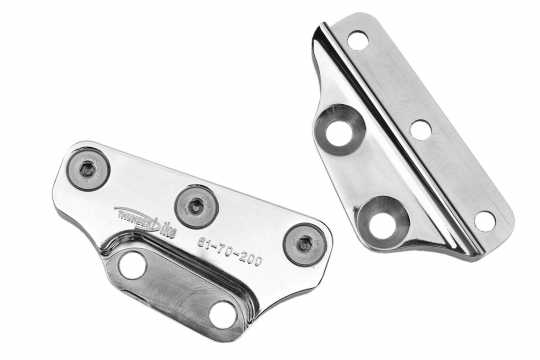 Thunderbike Caliper Bracket 40mm alu. polished  - 61-70-200SFV