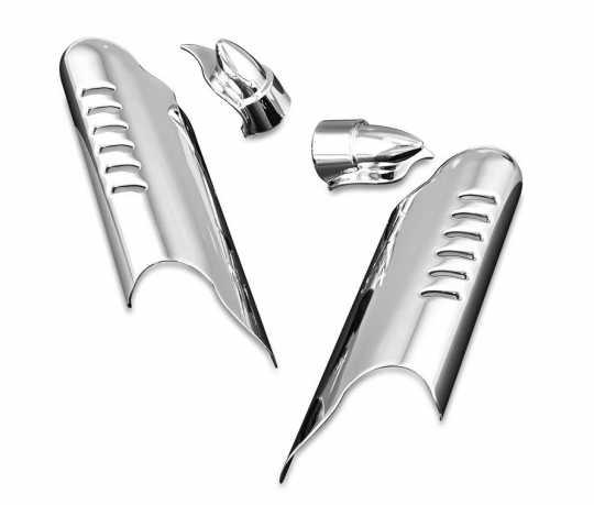 Küryakyn Küryakyn Lower Leg Deflector Shields with Fender Boss Covers, Chrome  - 61-8097