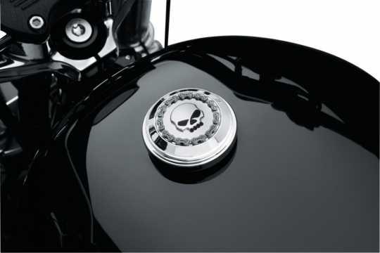 Harley-Davidson Fuel Cap Trim Skull & Chain Chrome  - 61100034