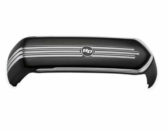 Harley-Davidson Defiance Ventilator Luftfilter-Zierblende, schwarz & Highlights  - 61300770