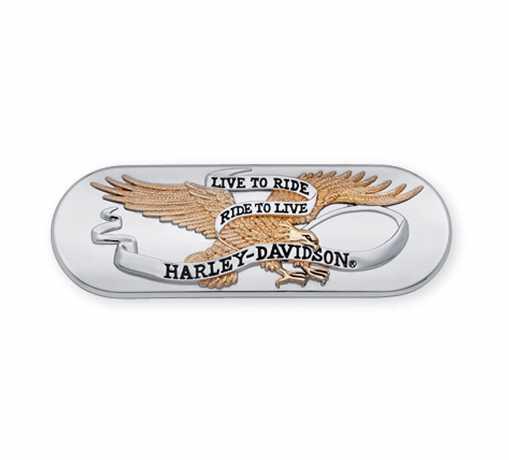 Harley-Davidson Transmission End Cover Trim Live To Ride Gold  - 61400025