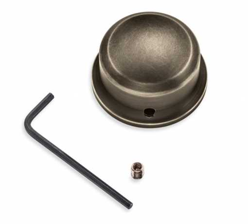 Harley-Davidson Brass Swingarm Pivot Bolt Cover, left  - 61400344