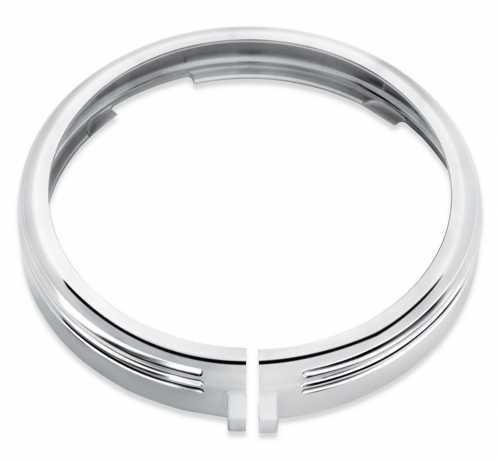"""Harley-Davidson Defiance Headlamp Trim Ring 7"""" chrome  - 61400432"""