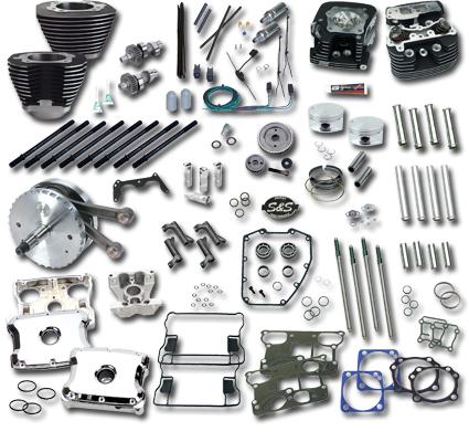 "S&S Cycle S&S 124"" Hot Set-Up Kit schwarz für OEM Zylinderköpfe  - 61-4577"