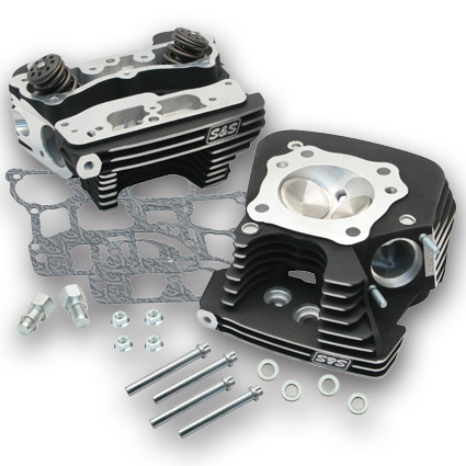S&S Cycle S&S Superstock Cylinder Heads79cc Wrinkle Black  - 61-8034