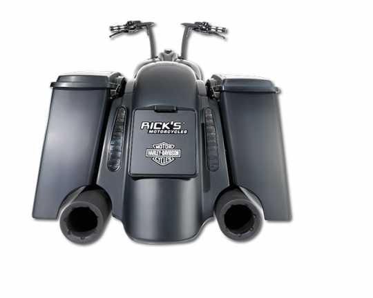 Ricks Motorcycles Rick's Kennzeichenhalter 18x20 cm mit Beleuchtung  - 61-9439
