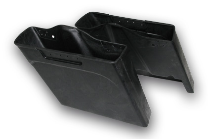 "Dirty Bird Concepts Dirty Bird 4"" stretched saddle bags, no cut-out for exhaust  - 61-9858"