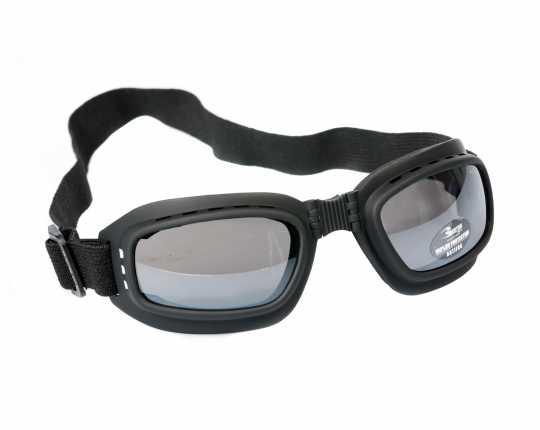 Bertoni Bikerbrille Jet Antifog, schwarz/getönt  - 62-AF112A