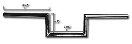 "Jammer Jammer Z Bars 60s Wide Style 4"" chrome  - 63-2326"