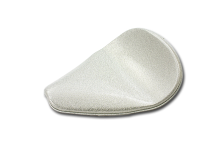 Easyriders Contoured Solo Seat silver metal flake
