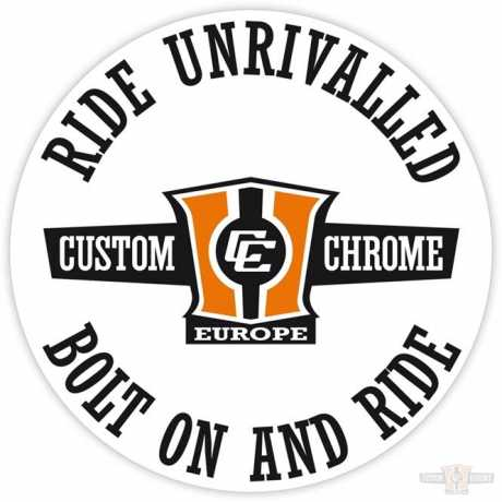 Custom Chrome Custom Chrome Sticker Ride Unrivalled round  - 64-2879