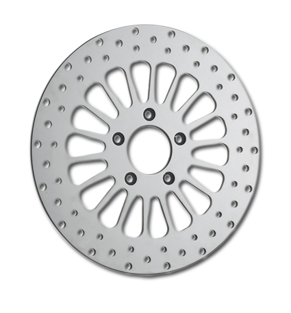 "DNA DNA Super Spoke 11.8"" front brake rotor. polished  - 64-0995"