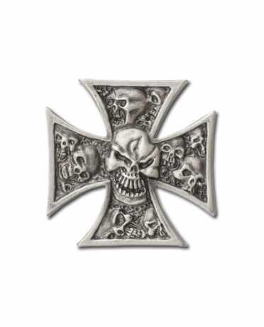 Custom Chrome Custom Chrome Pin Iron Cross & Skull silber  - 64-2013