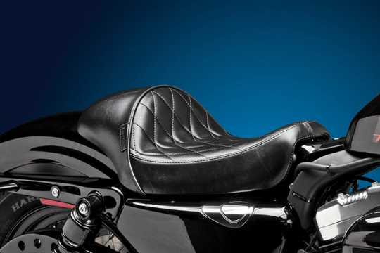 Le Pera Le Pera Stubs Cafe Solo Seat, Diamond Stitch Black LK-426DM  - 64-2100