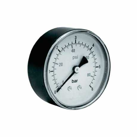 Air pressure gauge 40 mm ø fitting G1/8 backside (0-80 PSI)  - 64-2804