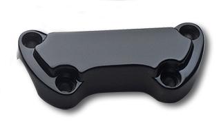 Standard Lenkerklemmen, schwarz Ausgekehlt  - 64-8010