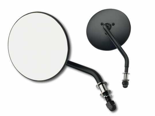 Custom Chrome Custom Chrome Round Mirror short stem black  - 65-1839V