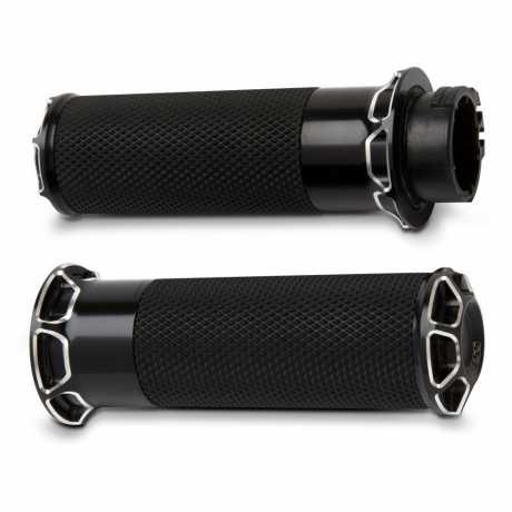 Arlen Ness Arlen Ness Beveled Fusion Griffe, schwarz  - 65-4107