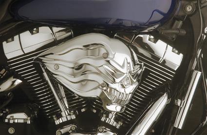 Custom Chrome Skull Air Cleaner  - 65-0852