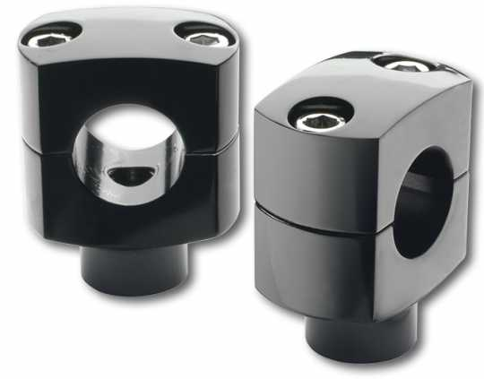"Custom Chrome Custom Chrome Classic Shorty Risers 1"" black  - 65-1821"
