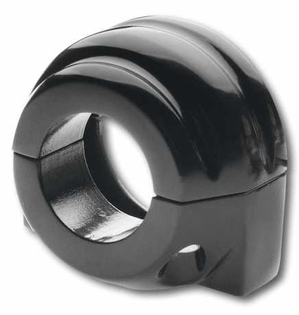 Custom Chrome Single Cable Throttle Clamp, black  - 65-1826