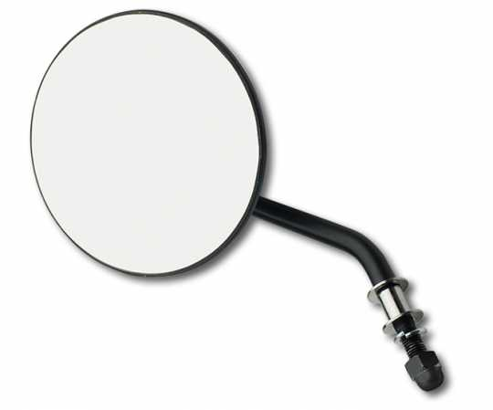 Custom Chrome Custom Chrome Round Mirror short stem black right - 65-1839