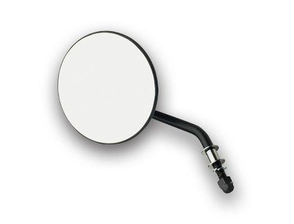 Custom Chrome Custom Chrome Round Mirror short stem black left - 65-1840