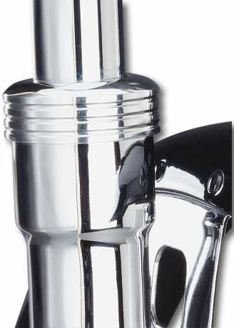 Pro One Chrome Billet 41 mm Fork Boot Caps