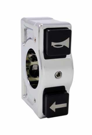 Joker Machine Joker J-Tech Kippschaltergehäuse links chrom  - 65-3648