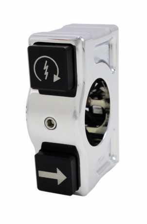 Joker Machine Joker J-Tech Kippschaltergehäuse rechts, chrom  - 65-3650