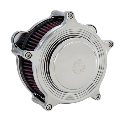 Performance Machine PM Super Gas Merc Air Cleaner Chrome  - 65-3834