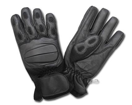 Custom Chrome AL26 Leather Gloves, black  - 65-3883V