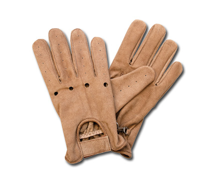 Custom Chrome AL28 Leather Gloves, brown  - 65-3888V