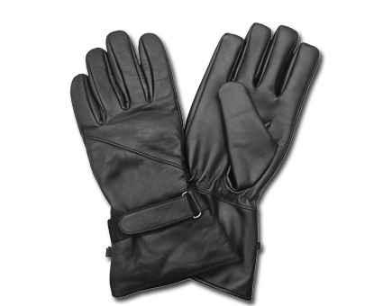 Custom Chrome AL62  Leather Gloves, black  - 65-3898V