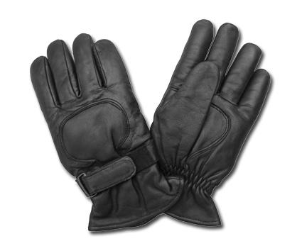 Custom Chrome AL63 Leather Gloves, black  - 65-3903V