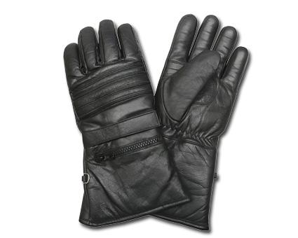 Custom Chrome AL55 Leather Gloves, black  - 65-3908V
