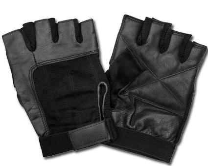 Custom Chrome AL02 Leather Gloves, black  - 65-3913V
