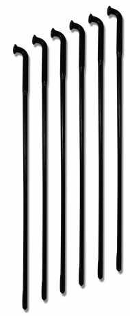 """TTS Wheels TTS Spoke Set, 16"""" long, black chrome  - 65-6008"""