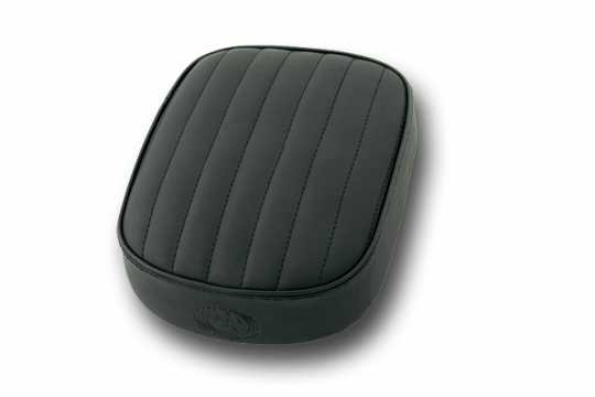 Five Stars 5-Stars Suction Cup Pillion Pad Black Vinyl, vertical stitch  - 65-6105