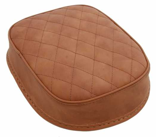 Five Stars 5-Stars Suction Cup Pillion Pad Brown Leather, diamond stitch  - 65-6108