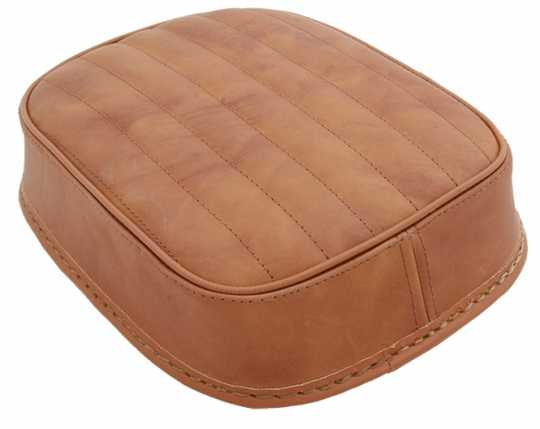 Five Stars 5-Stars Suction Cup Pillion Pad Brown Leather, vertical stitch  - 65-6109