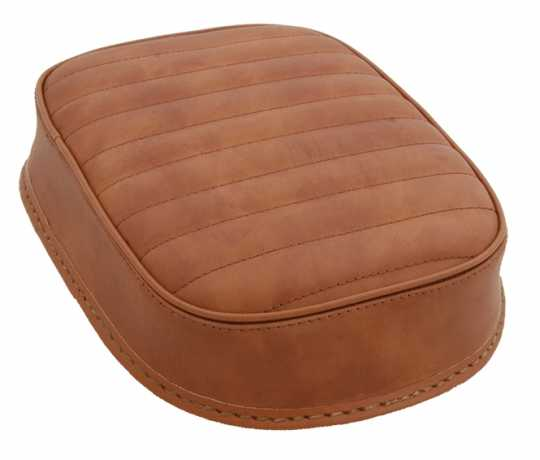 Five Stars 5-Stars Suction Cup Pillion Pad Brown Leather, horizontal stitch  - 65-6110