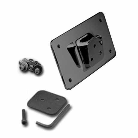 Custom Chrome Laydown Kennzeichenhalter OEM-Style schwarz  - 66-0751