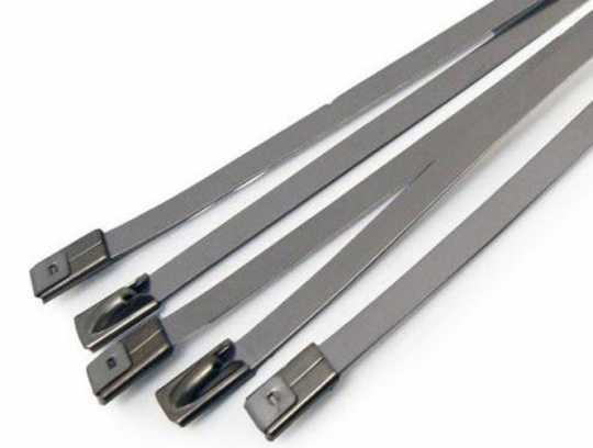 "Custom Chrome Stainless Steel Locking Ties 8"" (8)  - 66-4512"