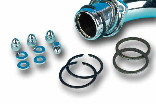 James Gaskets Gasket Kit, Exhaust Mounting, w/ Knitted Wire Gaskets & Chrome Acorn Nuts  - 66-7100