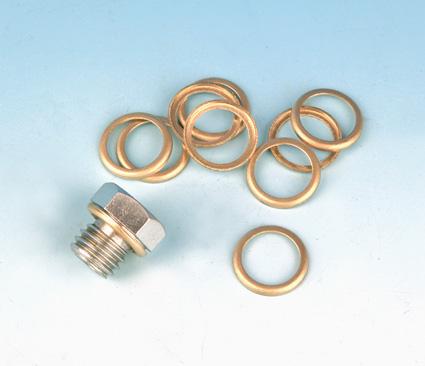 James Gaskets James Washer, Brass, Trans. Drain Plug/Oil Screen Plug (10)  - 66-7965