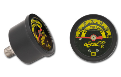 Accel Accel Oil Gauge 60 lbs, black  - 66-8379