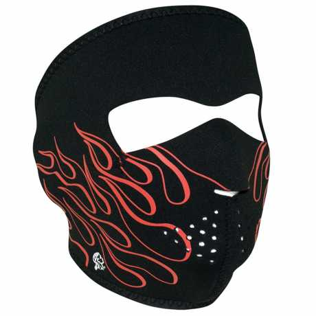 ZANheadgear ZANheadgear Neoprene Face Mask Orange Flames  - 67-5145